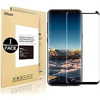 Protector de pantalla Galaxy S9 Plus, Vigeer [1 Paquete] [0.3mm, 3D] [Dureza 9H] [Fácil Instalación] [HD Clear] Protector de pantalla de vidrio templado para Samsung Galaxy S9 Plus