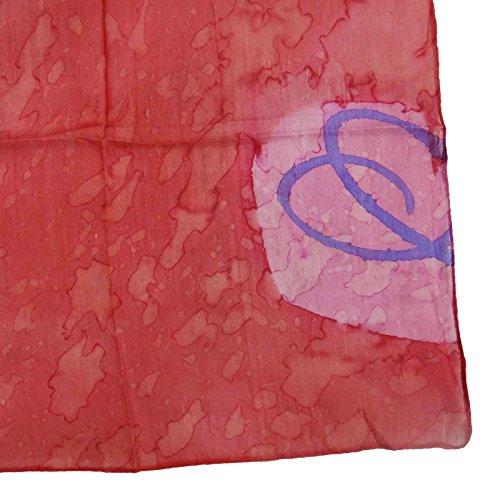 100% Place En Soie Imprimé Abstrait Mode Féminine Echarpes rouge-1