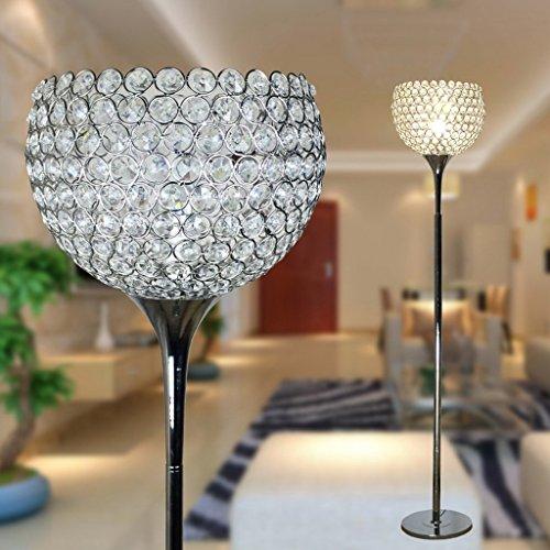 Edge to Stehlampe Einfache moderne Kristall-Fußboden-Lampen-kreative Fußboden-Lampen-Hochzeits-Pers5onlichkeit-kreative Nachttischlampe -