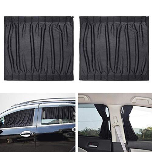 WINOMO 2STK Seitenfenster Auto Sonnenschutz Vorhänge UV Sonnenschirm Drapieren Fenster Schild (Schwarz)
