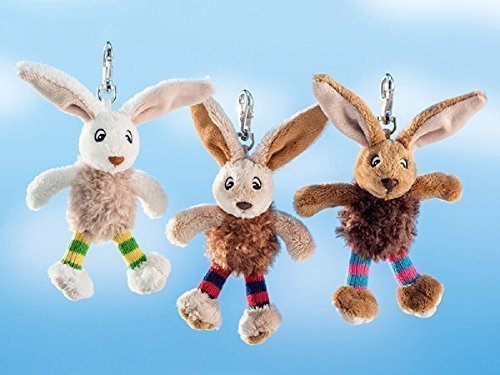 Schaffer 213 Schlüsselanhänger Funny Bunny Hase, 12 cm, Sortiert, Mehrfarbig