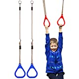 _YIFEIKU Co.,Ltd. Kinder-Trapeze Pull Up Gym Ringe für Kinder Spielplatz-Schaukel-Übungen, Fitness Indoor-Geräten, blau