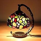 Gweat Tiffany 5 Zoll Romantische Kreative Bunte Mosaik Symphonie LED Schlafzimmer Nachttischlampe Licht Fütterung Nachtlicht Dekorative Tischlampe