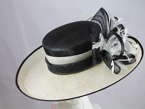 ; Failsworth ornements Ascot/événements Hat Multicolore - Black & Ivory
