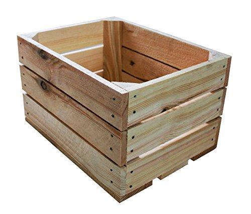 1 Stück NEUE Holzkisten Obstkisten Apfelkisten Weinkiste 40x30x23,5 cm TOP (Natur)