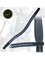 Royal Designer Blue linked U-Shaped Crystal Brow Band.