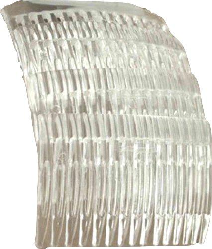 Shropshire Supplies 7cm Seitenkamm Haare Kämmen 4er packung - Klar