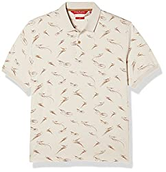 John Players Mens Printed Polo (JCMCTSA160012_Beige_XX-Large)