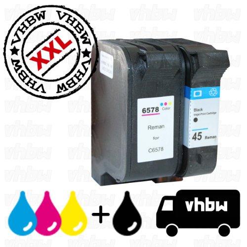 Pack de ahorro cartuchos de tinta reciclados negro & color para HP 45, C51645DE & HP 78, C6578DE