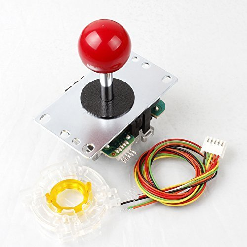 palo de JLF-TP-8YT Samwa rojo Ball-Top + Sanwa GT-Y Octagonal Puerta Para Arcade Joystick Juegos Mame Jamma