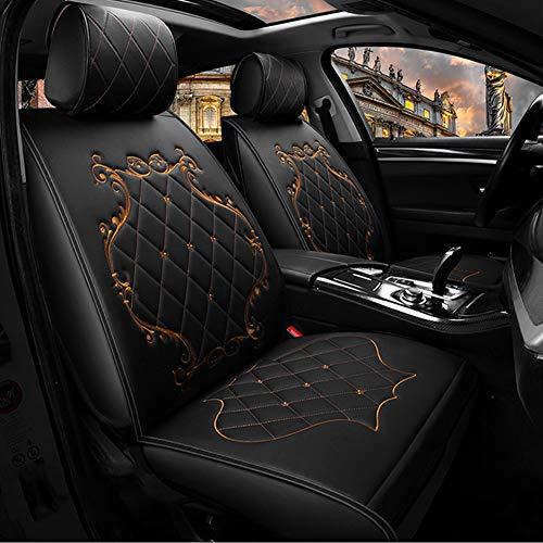 lle Fit 5 Sitze Sitzbezüge Für Auto, Crown Auto-seat-cover Umgeben Königin Sitz, Verstellbar Atmungsaktive Auto-saat Kissen-schwarz ()