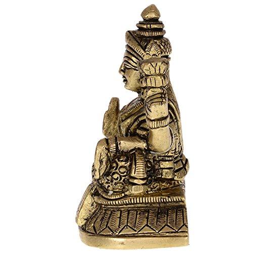 Kapasi Handicrafts Kapasi Handicrafts Goddess Lakshmi Sitting Brass Idol S