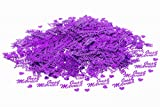 Just Married Wedding Metallic Table Confetti Sprinkles ( All Colours ) (1 Pack, Purple)