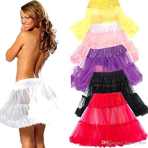 Boolavard 18″ 50s Retro Underskirt Swing-Klassiker Mini Petticoat Fancy Net Tulle Unterrock Rocke Rockabilly Tutu (L-XXL (EU 42-50), Schwarz) - 3