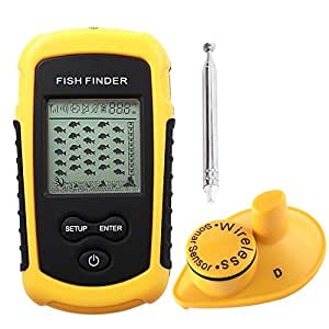 Lucky 40m wireless sonar fish finder sports for Amazon fish finder