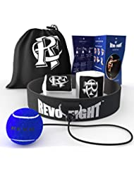 Revo Fight PRO Boxing Reflex Ball   Premium Boxing Ball Headband with Punching Ball on String, Best Boxing Equipment for Training, Hand Eye Coordination and Fitness, Boxing Wraps Included