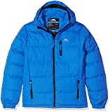 Trespass Tuff, Ultramarine, 5/6, Waterproof Jacket with Removable Hood for Kids/Boys, Age 5-6, Blue
