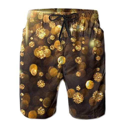 pujingge Mens Stylish Patterns Drawstring Swimming Trunks Surfing Beach Shorts