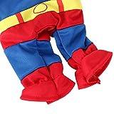 DIGIFLEX Haustier Superman Kostüm, Superhelden – Fasching/Fastnacht, Halloween – Outfit für kleine Hunde oder Katzen bis 25cm Hals - 3
