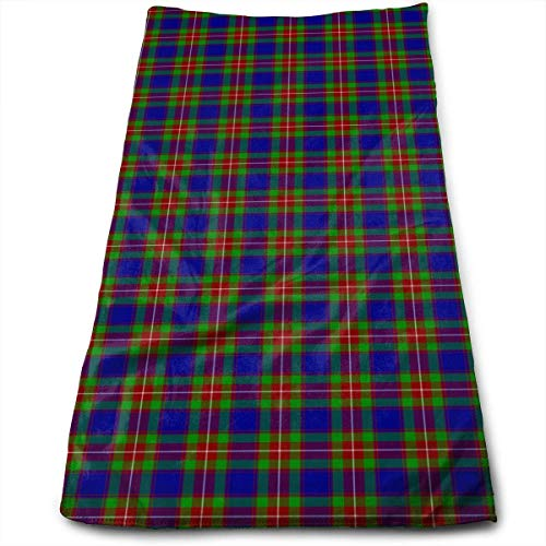 Hipiyoled Schottland Tartans schnell trocknende Handtücher 27,5 x 12 Zoll für Bad, Hand, Gesicht, Fitnessraum und Spa -
