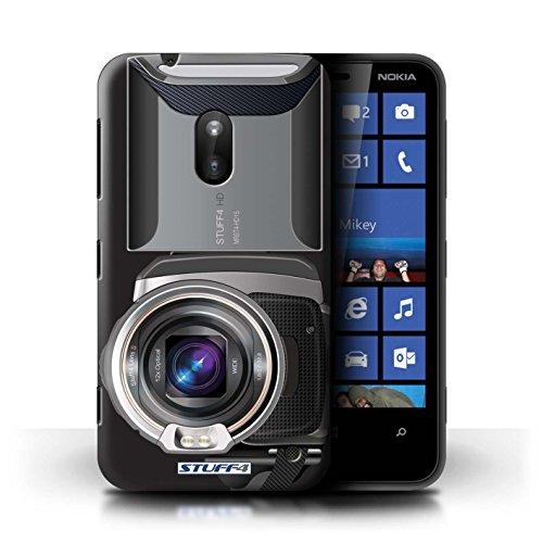 Kobalt® Imprimé Etui / Coque pour Nokia Lumia 620 / Instantanée Retro conception / Série Appareil Photo Caméscope