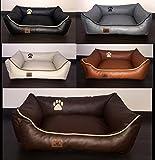 Hundebett Kunst Leder Luxus Hundebett Hundesofa Katzenbett Hundekorb S M L XL XXL XXXL Dollaro (M (...