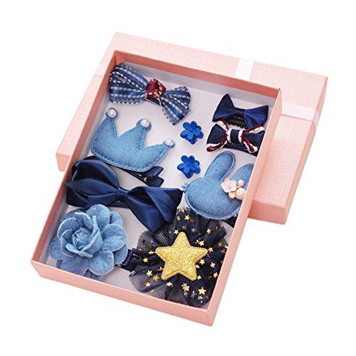 Kristall-braut-handtasche (yiwa 100Mädchen Haar Clips Set Schleife Krone Haarspange Haarspange Haar-Accessoires für Toddles Geschenk-Box)