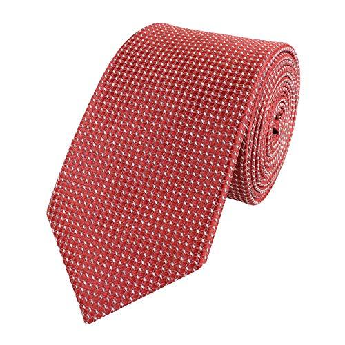 Fabio Farini karierte 6 cm Krawatte, für jeden Anlass mit Karomuster in mehreren Farben (Rot Weiß)