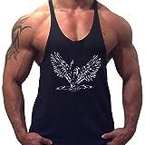 Musclealive Herren Bodybuilding ZYZZ Mode Tank Tops Baumwolle Farbe Black Größe Medium