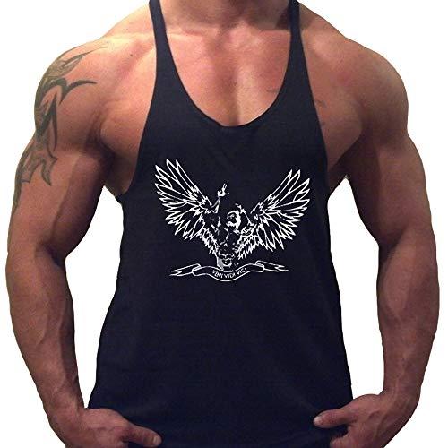 Musclealive Herren Bodybuilding Zyzz Mode Tank Tops Baumwolle Farbe Black Größe Small