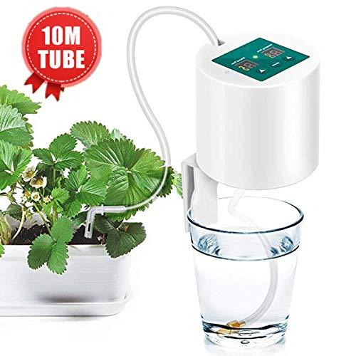 Janolia Kit di Irrigazione Automatica, Sistema di Irrigazione Automatica, con Timer Elettronico per Acqua, Tubo da 10 m, per Giardini, Balconi, cesti Pensili, Interni ed Esterni, Piante in Vaso