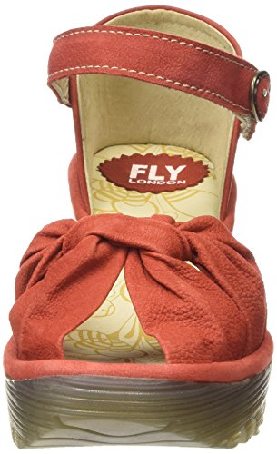 FLY London Yoel629fly, Sandales  Bout ouvert femme Rot (SCARLET 008)