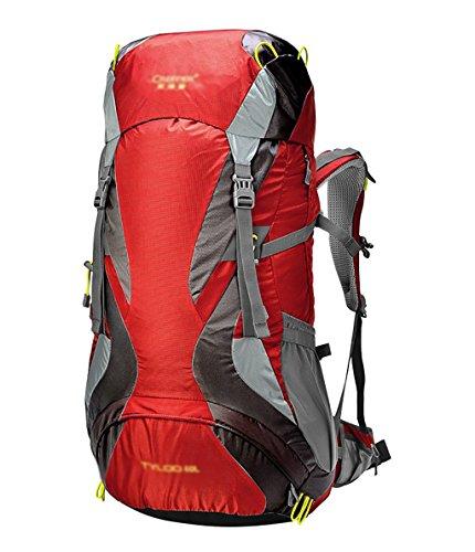 zaino trekking Maschio / Femmina 60L Outdoor Alpinismo Bag galleggiante spalla traspirante zaino impermeabile Zaini da escursionismo ( Colore : D , dimensioni : 60L-35*26*75CM ) A