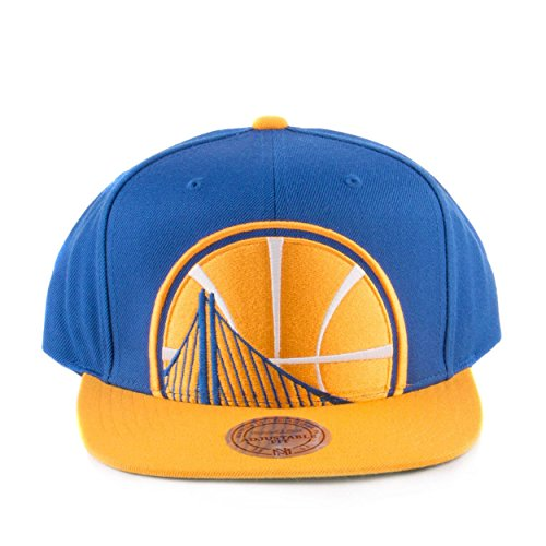 a38cddb3d0d Mitchell And Ness Men s NBA Golden State Warriors Cropped XL Logo Snapback  Cap Royal