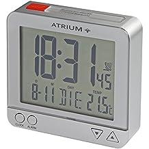 Atrium De Radio Digital despertador LCD sensorgesteuerte Luz nocturna Función de repetición de función obenabsteller Reloj despertador de viaje plata/rojo A740–19