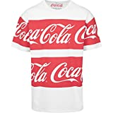 MERCHCODE Herren Coca Cola Stripe Oversized Tee T-Shirt, White, XL