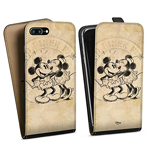 Apple iPhone 7 Plus Tasche Hülle Flip Case Disney Minnie & Mickey Mouse Geschenke Merchandise (Disney Tasche)
