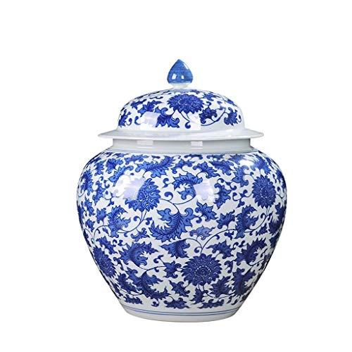 Pan&Pan Tarro clásico Porcelana Fina Azul Blanco