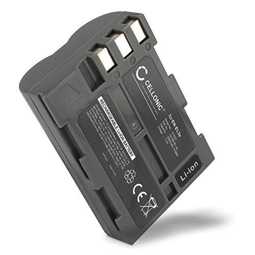 Cellonic® Qualitäts Akku kompatibel mit Nikon D50 Nikon D70s Nikon D80 D90 D200 D300 D300S (2000mAh) EN-EL3,EN-EL3e Ersatzakku Batterie