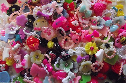 50-x-accessories-bows-rhinestones-pearls-flowers-hearts-craft