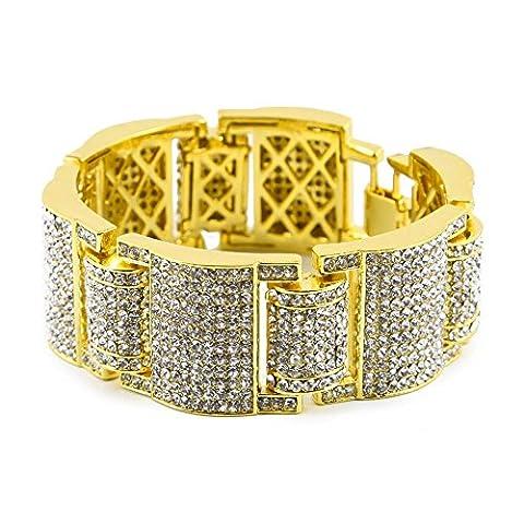 Jingmei Mode pour hommes 's Bracelet Diamant Bracelet, doré