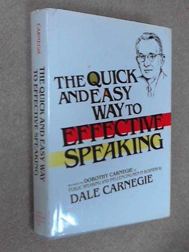 Buchseite und Rezensionen zu 'The Quick and Easy Way to Effective Speaking' von Dale Carnegie