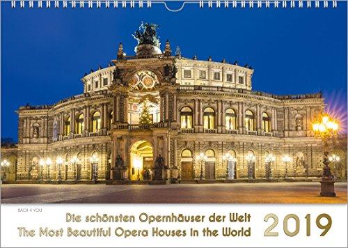 Opernhäuser - Musik-Kalender 2019, DIN-A4: Die schönsten Opernhäuser der Welt - The Most Beautiful Opera Houses in the World