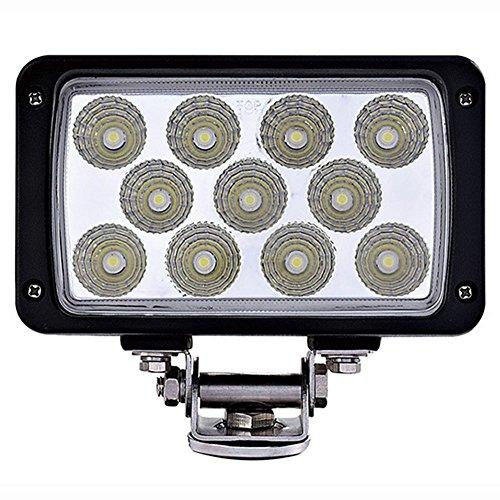Preisvergleich Produktbild 33 W LED Auto Beleuchtung Arbeitsleuchte quadratisch Weit und Nähe Licht Outdoor Wasserdicht IP67 Kopflampe Geländewagen Dach Auto Modified Inspektion Lichtern schwarz Spot Flood fahren (Größe: 110 * 60 * 56 mm)