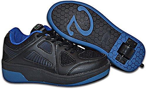 Elara Damen Herren Kinder Rollschuhe Sportschuhe Schuhe mit Rollen Laufschuhe Runners Sneakers MF-686-Schwarz-40