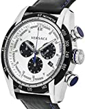 Versace VDB010014 V-Ray Mens Chronograph Silver Stainless Steel Case Swiss Made Quartz Watch