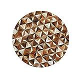 Teppiche Fußmatten Kinder Tür Decke Rutschfeste Carpet Amerikanischen Nordischen Schlafzimmer Sofa Stuhl Matte Runde Leder Rgu (Color : Brown, Size : 100cm*100cm*2cm)