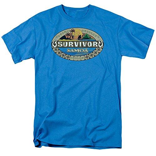 2Bhip Survivor Reality TV Game Show Survivor Samoa Logo Erwachsene T-Shirt, Herren, türkis, X-Large (Tv-show Survivor)