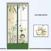 Puerta mosquitera, Cifrado Cortina antimosquito Puerta de pantalla suave magnética Pantallas de velcro Ventilación Cortina de malla Niño y perro amistoso-B 150x220cm(59x87inch)