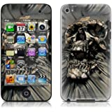 iPod Touch 4G skin - Skull Wrap - High quality precision engineered removable adhesive skin for 4th Generation iPod Touch 4 / 4G (8gb / 32gb / 64gb) from 2010 & 2011